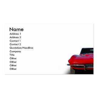 Automóvil descubierto clásico tarjetas de visita