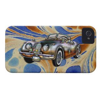 Automóvil descubierto de encargo 1953 de Jaguar XK iPhone 4 Case-Mate Funda