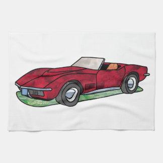 Automóvil descubierto del rayo de Sting de 69 Corv Toalla