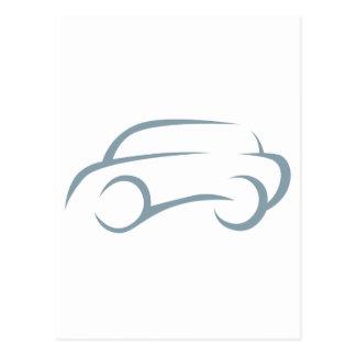 Automóvil en estilo del dibujo del chasquido tarjeta postal