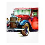 Automóvil FT32 retro del vintage Membrete Personalizado