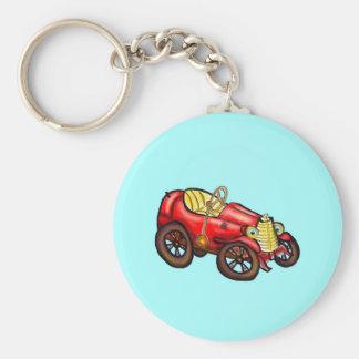 Automóvil rojo viejo llaveros