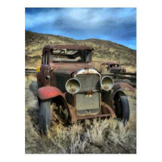 Automóvil viejo del contador de tiempo postal
