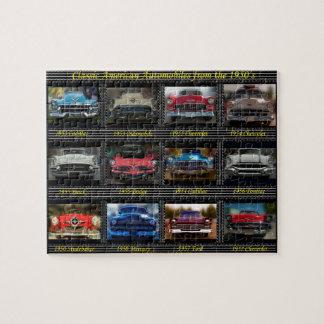 Automóviles americanos clásicos a partir de los rompecabezas