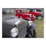 Automóviles antiguos de Ford Tarjetón
