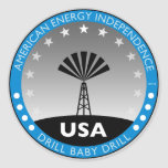 Autonomía energética americana etiquetas redondas