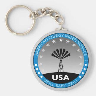 Autonomía energética americana llaveros personalizados