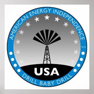 Autonomía energética americana póster