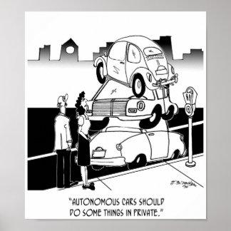 Autonomous Car Cartoon 9474 Poster