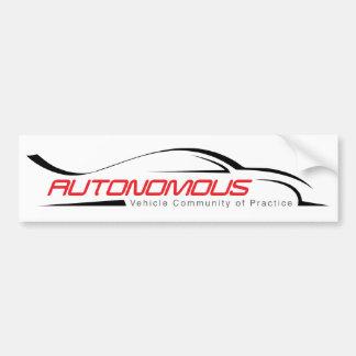 Autonomous Vehicle Community of Practice Bumper Sticker