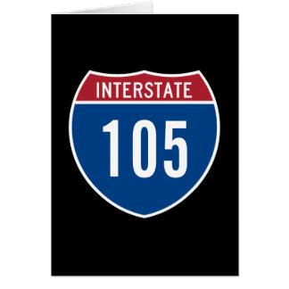 Autopista 105 tarjeta de felicitación