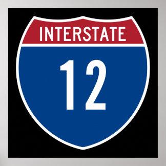 Autopista 12 posters