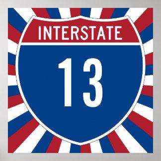 Autopista 13 poster