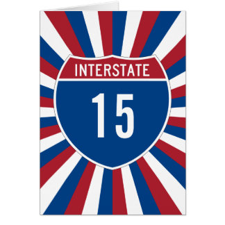 Autopista 15 tarjeta de felicitación