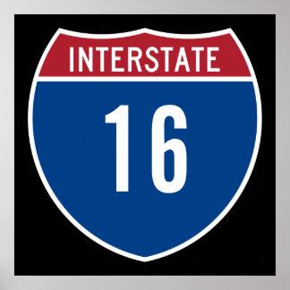 Autopista 16 posters