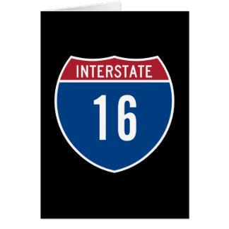 Autopista 16 tarjeta de felicitación