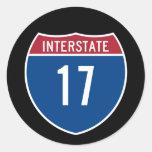 Autopista 17 etiqueta redonda
