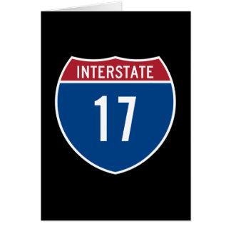Autopista 17 tarjeta de felicitación