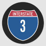 Autopista 3 etiquetas redondas