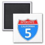 Autopista 5 de California Imán Cuadrado