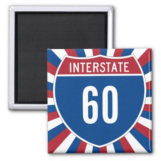 Autopista 60 imán cuadrado