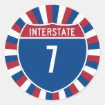 Autopista 7 pegatinas redondas