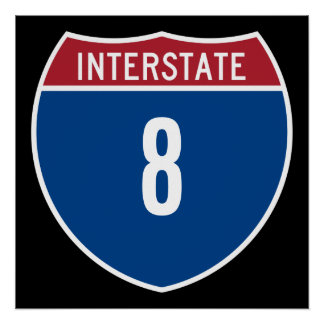 Autopista 8 poster