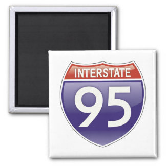 Autopista 95 imán cuadrado