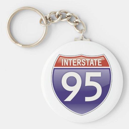 Autopista 95 llaveros personalizados