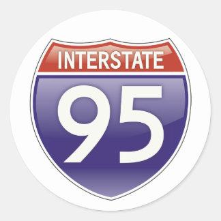 Autopista 95 pegatina redonda