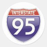 Autopista 95 pegatinas redondas