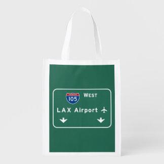 Autopista Ca del aeropuerto I-105 W de Los Ángeles Bolsa Para La Compra