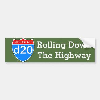 Autopista d20 pegatina para auto