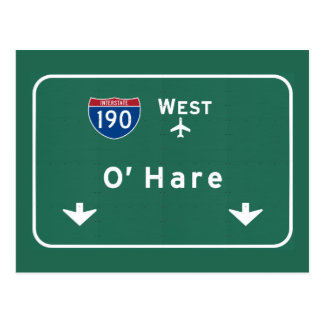 Autopista Illinois del aeropuerto I-190 W de Postales