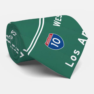 Autopista sin peaje de la carretera nacional de corbata personalizada