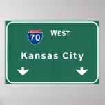 Autopista sin peaje de la carretera nacional de póster