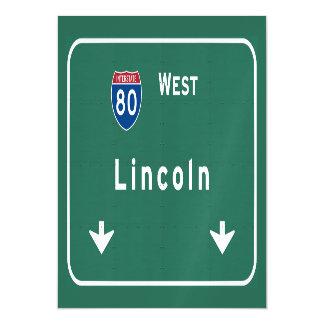 Autopista sin peaje de la carretera nacional del invitaciones magnéticas