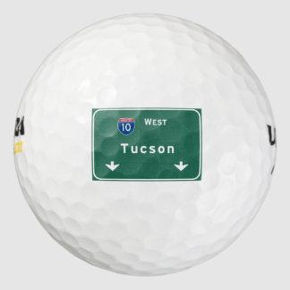 Autopista sin peaje de la carretera nacional del pack de pelotas de golf
