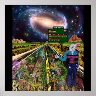 Autopista sin peaje ida del alucinógeno poster