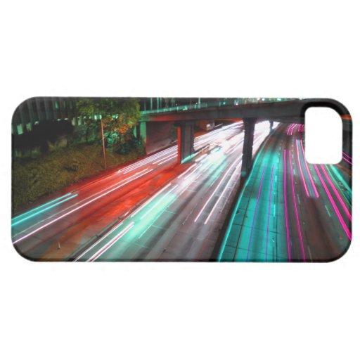 Autopista sin peaje roja del verde azul y de la iPhone 5 fundas