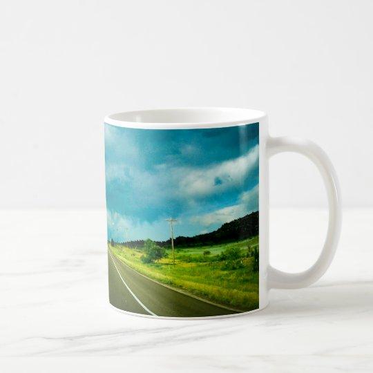 autopista taza de café