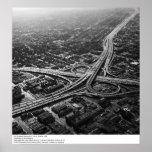 Autopistas sin peaje de Los Ángeles del aire, 1966 Posters
