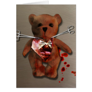 Autopsia de T. Bear Card Tarjeta De Felicitación
