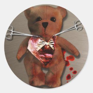 Autopsia de T. Bear Sticker Pegatinas Redondas