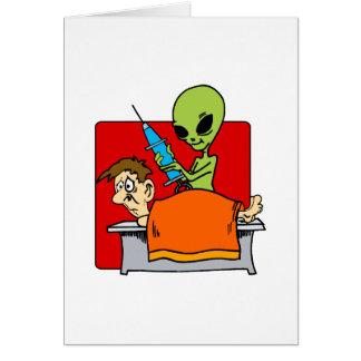 Autopsia extranjera tarjeta de felicitación