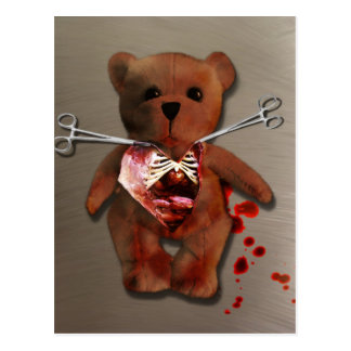 Autopsy of T Bear Postcard