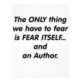 autor del miedo tarjetas publicitarias