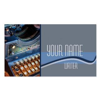 Autor, escritor, o redactor Typewritter antiguo Tarjetas De Visita
