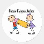 Autor famoso del futuro etiqueta redonda