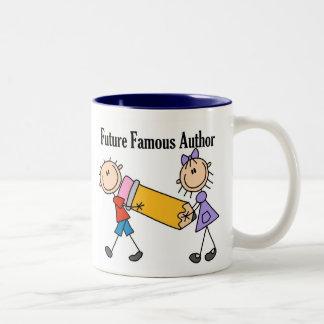 Autor famoso del futuro taza de dos tonos